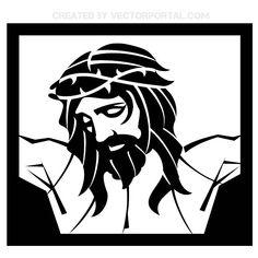 JESÚS CRISTO CRUCIFICADO VECTOR