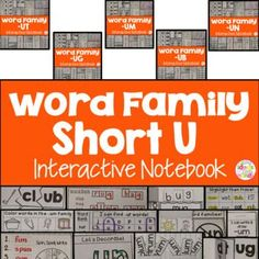 This is a Word Family Interactive Notebook to help students practice and learn CVC words and word families. There are 22 different activities for each Short U word family to help your students master the word family. You may choose which activities are best for your students. The activities include: - Sort by word family - Word Family Word Search - ABC Order - Roll, Write, Graph - Spin, Write, Graph - Real & Not Real Pockets - Building Words - Highlight then Trace - Color the Pictures…