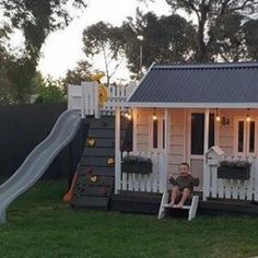 The Flagstaff Timber Cubby House Cubby Central Inspired australian landscaping Central Cubby Flagstaff House Timber Kids Outdoor Play, Outdoor Play Areas, Kids Play Area, Backyard For Kids, Outdoor Playsets For Kids, Kids Cubby Houses, Kids Cubbies, Kids Play Houses, Haacke Haus