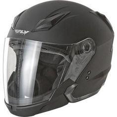 FLY Street TOURIST Motorcycle helmet Flat Black