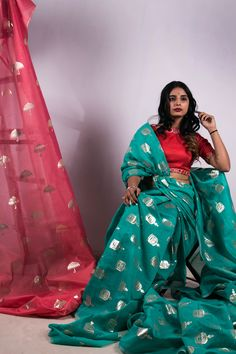 Buy Chanderi Silk Online I Diigtal Prints on Chanderi I Abstract Designs
