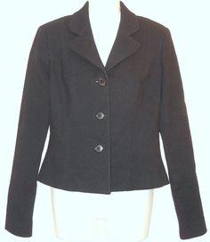 RALPH LAUREN COLLECTION Jacket sz 8 Black Wool Blazer Purple Label #RalphLauren #Blazer