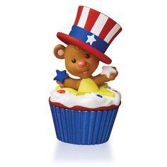 Star-Spangled Bear Keepsake Cupcake Ornament