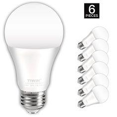 TIWIN LED Light Bulbs 100 watt equivalent (11W),Soft White (2700K), General Purpose A19 LED Bulbs,E26 Base ,UL Listed, Pack of 6 #TIWIN #Light #Bulbs #watt #equivalent #(W),Soft #White #(K), #General #Purpose #Bulbs,E #Base #Listed, #Pack