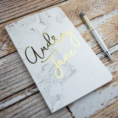 Personalized Notebook | Stationery | Marble Stationery | Notepads | Notebooks | Gift Ideas | Personalized Gifts |  Bridesmaid Gifts |  Personalized Stationery | Gold Stationery