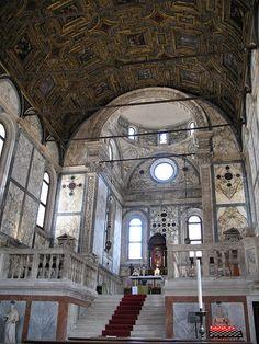 The beautiful interior of the Chiesa Santa Maria dei Miracoli, Venice. The site of many Venetian weddings.