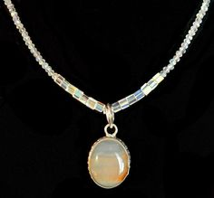 "Mookite Jasper necklace, Swarovski crystals, Stylish necklace, Statement necklace, hung on a 18"" crystal chain. by LizHivelyJewelry on Etsy"