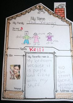 home activities,address activities, learning your address lessons, social studies lessons for kinders,social studies lessons for 1st grade, common core social studies, back to school bulletin boards, back to school ice breakers, acivities for the first week of school, social studies bulletin boards, neighborhood bulletin boards, house and home lessons, family lessons, lessons on family, activities about families,