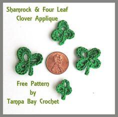 Shamrock and Four Leaf Clover Free Crochet Pattern