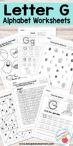 Free Printable Letter J Worksheets - Alphabet Worksheets Series ...