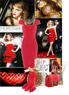 """""""Christmas party :)"""" by taritelemnar ❤ liked on Polyvore"""