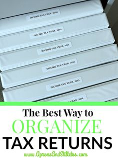 The Best Way to Organize Your Tax Return Paper Organization, Coupon Organization, Organizing Tips, Tax Refund, Tax Deductions, Home Management, Filing System, Income Tax, Binder