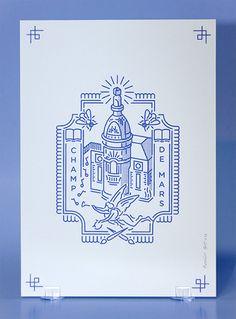 Nantes Rodéo Basilic a réalisé une série de cartes personnalisées intitulée carterie de quartier. Elle reprend l'imagerie des blasons déclinée aux quartiers nantais.