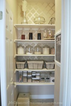 Even your pantry can be decorated.  ;)