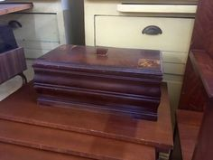 """Large Jewelry Box   18"""" Wide x 8"""" Deep x 10"""" High   $48  Booth #282  Lula B's  1010 N. Riverfront Blvd. Dallas, TX 75207  Open Daily Mon. -- Sat. 10 to 6 Sun. 12 to 6  Like us on Faceb"""
