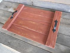 Rustic / Primitive / Farmhouse Serving Tray by WileWood on Etsy https://www.etsy.com/listing/230470354/rustic-primitive-farmhouse-serving-tray