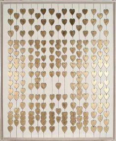 Cartier Heart Strings Art - Natural Curiosities | Tonic Home Inspiration to make own canvas upstairs hall w/ other colors?