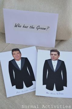 Who has the groom? bridal shower game