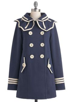 My 'Running Errands' coat.  Ships of the Trade Coat, #ModCloth