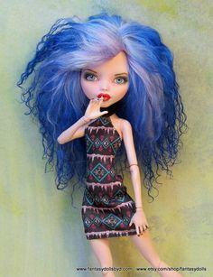 Monster Doll Repaint High Custom Fashion ooak MH by Fantasydolls
