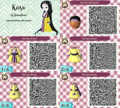 Harvest moon Keiras dress for Animal crossing new leaf keira keria qr code