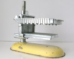 Antique Butter Pat Cutter Retro Yellow Kitchen Industrial by Sfuso