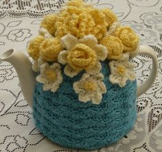 Oh. My. Goodness. My two favorites all in one! Teapots and crocheting!