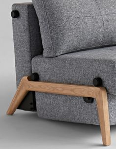 Cubed 140 Double Sofa Bed by Innovation Sydney Danish Design, Cube, Innovation, Ottoman, Cushions, Chair, Wood, Sofa Beds, Furniture