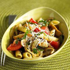Summer Chicken and Mushroom Pasta