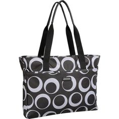 @Overstock - This multi-pocket women's tote carries all the essentials in style. Great for use as a shopping tote, diaper bag or gym bag, the versatile water repellent fabric protects against accidental spills.http://www.overstock.com/Luggage-Bags/WallyBags-Womens-Fashion-Tote-Bag/7585303/product.html?CID=214117 $49.99