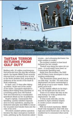 HMAS Stuart home after Gulf tour. Published in issue #4, December 2004