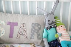 Our Baby Boy's Nursery Before + After Baby Pillows, Throw Pillows, Cute Cushions, Dream Kids, Baby Bassinet, Baby Bedroom, Baby Boy Nurseries, Kid Spaces, Children's Place