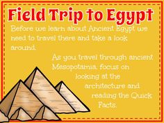 Field Trip to Egypt. 6th Grade Social Studies, Social Studies Classroom, Social Studies Activities, Teaching Social Studies, Teaching History, Ancient Egypt Lessons, Ancient Egypt Activities, Ancient Egypt For Kids, Ancient World History