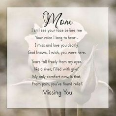 95 Best For My Mom In Heaven Images In 2019 Miss You Mom In