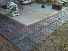 Using cheap concrete block you can create the look of stone pavers adding pavers to extend existing patio google search solutioingenieria Image collections