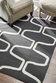 $5 Off when you share! Homespun Trellis Charcoal Rug | Contemporary Rugs #RugsUSA