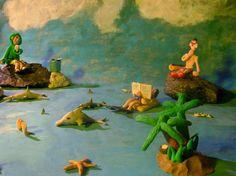 The Sea - Plasticine Art