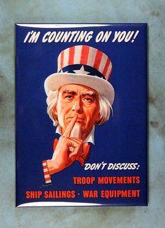 "Vintage Poster Fridge Magnet 2 1//2/"" x 3 1//2/""  Uncle Sam WW2 Are you doing enough"