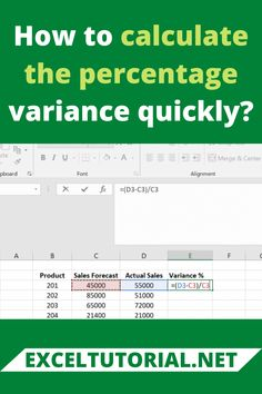 To calculate the percentage variance in excel, let's take an example for the same. Excel Tips, Excel Hacks, Microsoft Excel Formulas, Microsoft Office Online, Computer Shortcut Keys, Learning Courses, Reading Response, Computer Programming, Study Tips