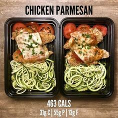 Gluten Free Chicken Parmesan from Page 60 of The Meal Prep Minute Meal. Gluten Free Chicken Parmesan from Page 60 of The Meal Prep Manual-. Lunch Meal Prep, Healthy Meal Prep, Healthy Snacks, Keto Meal, Healthy Weight, Lunch Recipes, Diet Recipes, Cooking Recipes, Healthy Recipes