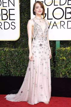 EMMA STONE. The Prettiest, Most Princess-Worthy Dresses at the 2017 Golden Globes - InStyle.com