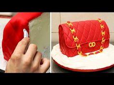 How To Make A Fashion Bag Cake by CakesStepbyStep - YouTube