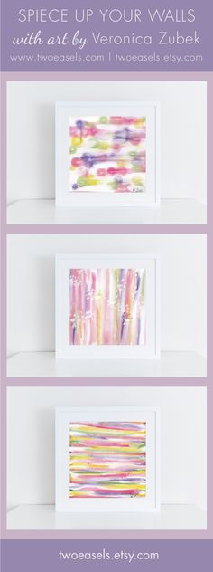 ART PRINTS - Add a pop of color to your home this spring with these abstract prints. Originally made with watercolor paint.