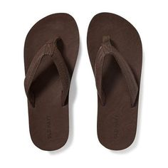 Old Navy Mens Faux Leather Flip Flops (25 CAD) ❤ liked on Polyvore featuring men's fashion, men's shoes, men's sandals, men's flip flops, brown, old navy mens flip flops, mens brown sandals, mens vegan shoes, mens shoes and mens brown shoes