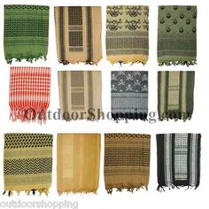 Cotton Keffiyeh Tactical Shemagh Desert Sun Scarves