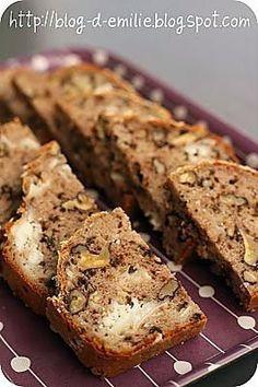 recette Cake farine de sarrasin, chèvre et noix