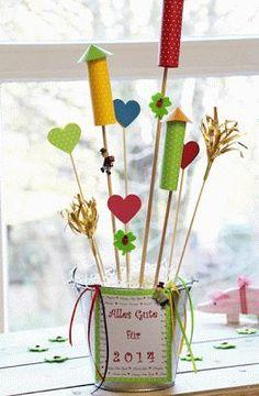Silvester DIY Mitbringsel Deko Geschenk