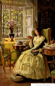 My idea of perfection...woman reading by a window book related art