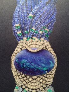 Drawing of Cartier bracelet by Anastassiya Korzhova, via Behance