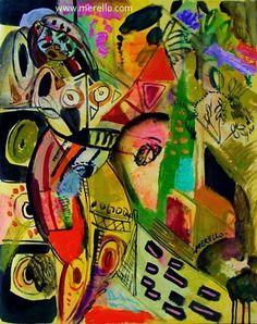 """COLOR and PASSION.  Jose Manuel Merello.- """"Mujer en la ventana del jardín"""".  Arte contemporáneo. Pintores españoles actuales. Arte actual siglo 21. Pintura moderna. Comprar cuadros de pintores contemporaneos. México, Miami, Madrid. Arte, Lujo e Inversión. Invertir en Arte. http://www.merello.com"""